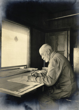 Berlage at the drawing table