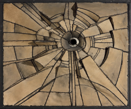Lee Bontecou, Untitled (1961), Welded steel, canvas, wire, and soot Copyright Lee Bontecou, 2016