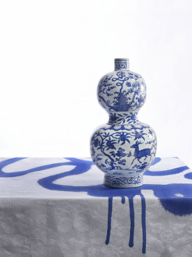 Bottle with Shou character for longevity, China, 1522-1566, porcelain (collection Gemeentemuseum Den Haag)
