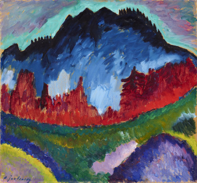 Alexej von Jawlensky (1864-1941), Landscape close to Oberstdorf, 1912, Oil on cardboard, 51,5 x 54,9 cm, Gemeentemuseum Den Haag