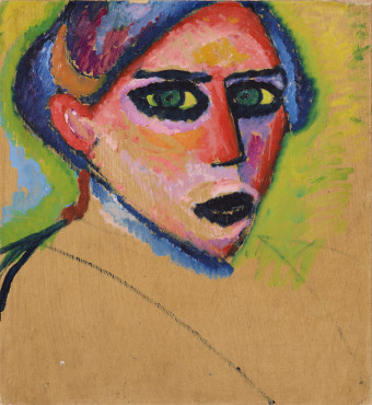 Alexej von Jawlensky (1864-1941), Woman's head, 1911,  Oil on cardboard, 55,2 x 51,3 cm, Gemeentemuseum Den Haag