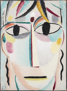 Alexej von Jawlensky (1864-1941), Savior's face - Expectation, 1917, Oil on cardboard,	 38 x 28 cm, Museum Wiesbaden