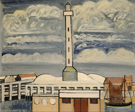 Jean Brusselmans, Le Phare d'Ostende (Lighthouse at Ostend), 1936, Oil on canvas, 84 x 100 cm, Stedelijk Museum Amsterdam