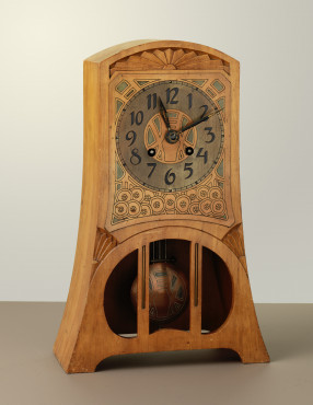 Chris Wegerif (1859-1920)  executed by Arts and Crafts, The Hague Mantle clock, 1900 walnut, copper Gemeentemuseum Den Haag