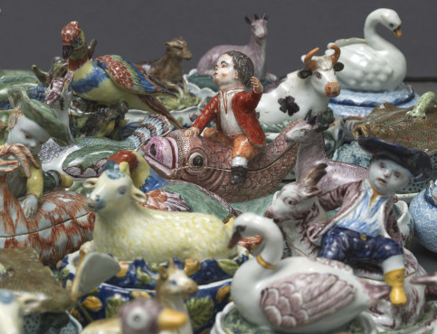 Selection of animal tureens and covers, Delft, 1750-1800, tin-glazed earthenware, Kunstmuseum Den Haag – The Lavino Collection