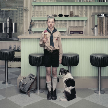 Erwin Olaf, Rain, The Ice Cream Parlour. 2004 © Erwin Olaf. Courtesy Hamiltons Gallery, London / Edwynn Houk Gallery, New York.