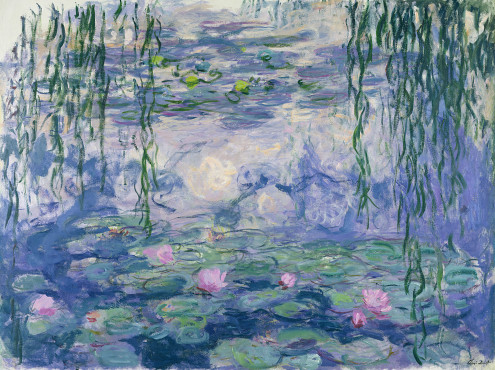 Claude Monet (1840-1926), Water lilies, 1916-1919, oil on canvas, 150 x 197 cm, Musée Marmottan.