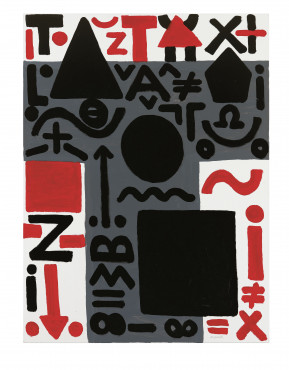 A.R. Penck, Advance, 2010, dispersion on canvas, 63 x 47 ¼ in.