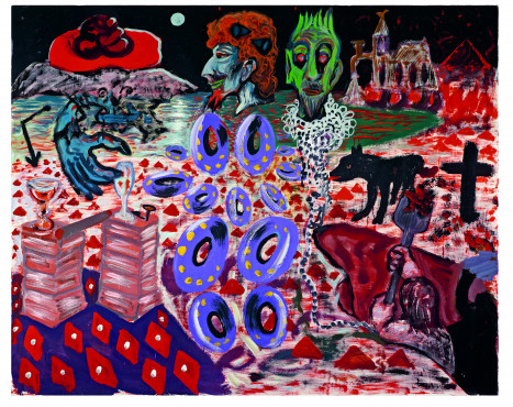 A.R. Penck, The Aesthetic Provinces, 1977, dispersion on canvas, 144 x 179 cm, Birkelsche Stiftung für Kunst und Kultur
