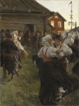 Anders Zorn, Midsummer Dance, 1897, oil on canvas, 140 x 98 cm, Nationalmuseum, Stockholm.