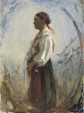 Anders Zorn, Ung kulla, date unknown, watercolour, 30 x 22 cm, Nationalmuseum, Stockholm.