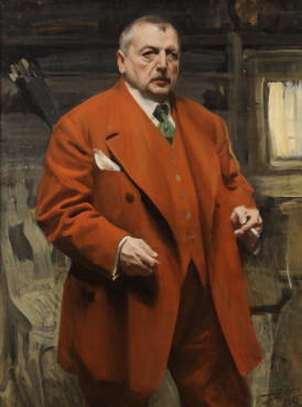 Anders Zorn, Self-Portrait in Red, 1915, oil on canvas, 120 x 90 cm, Zornmuseet, Mora.