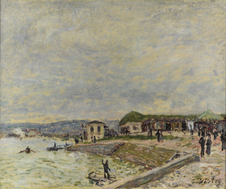 Alfred Sisley, The Seine at Point du jour, circa 1878, oil on canvas, 37,9 x 46 cm, Kunstmuseum Den Haag.