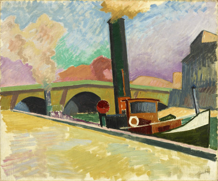 Auguste Herbin, Le Remorqueur (The Tugboat), 1907, oil on canvas, 52,5 x 63,5 cm, Kunstmuseum Den Haag – private donation.