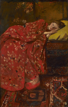 George Hendrik Breitner, Girl in a red kimono, ca 1893, oil on canvas, 82 x 53.5 cm, Kunstmuseum Den Haag.