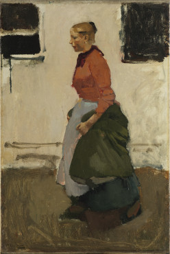 George Hendrik Breitner, Factory Girl, c. 1893, oil on canvas, 109 x 79 cm, Kunstmuseum Den Haag.
