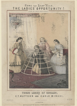 W. Branard, Song for Leap Year, The Ladies' Opportunity!, ca. 1860, lithografie, Kunstmuseum Den Haag