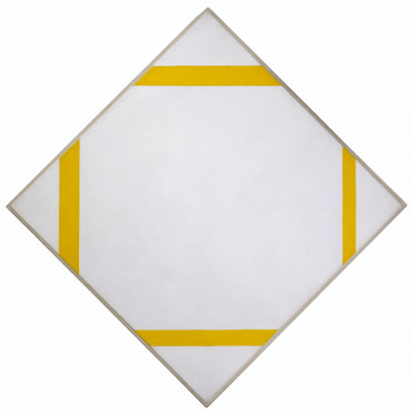 Piet Mondrian [1872-1944], Lozenge composition with yellow lines, 1933, Oil on canvas, 80,2 x 79,9 cm, Kunstmuseum Den Haag. Donation of the admirers of P.C. Mondriaan