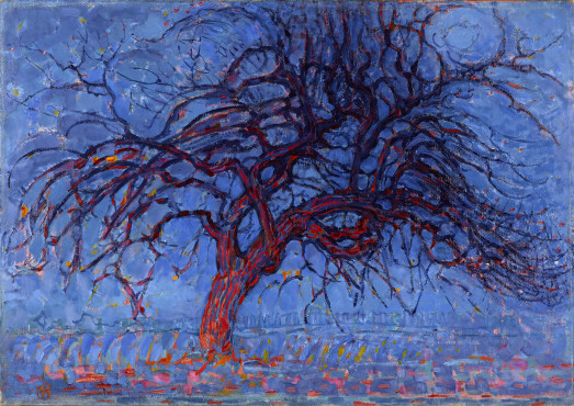 Piet Mondrian (1872-1944), Evening; The red Tree, 1908-1910, oil on canvas, 70 x 99 cm, Kunstmuseum Den Haag