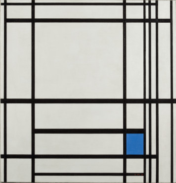 Piet Mondrian [1872-1944], Composition de lignes et couleur: III (Composition with lines and color: III), 1937, Oil on canvas, 80 x 77 cm, Kunstmuseum Den Haag. Purchased with the assistance of the Rembrandt Society