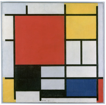 Piet Mondrian [1872-1944], Composition with Large Red Plane, Yellow, Black, Gray and Blue, 1921, Oil on canvas, 59,5 x 59,5 cm, Kunstmuseum Den Haag