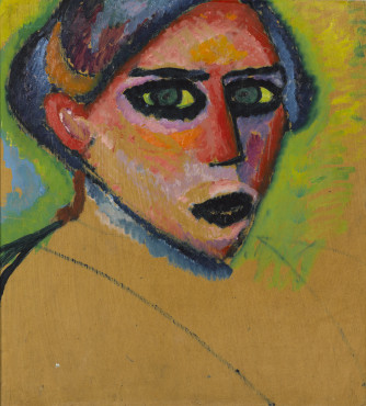 Alexej von Jawlensky [1864-1941], Head of a Woman, circa 1911