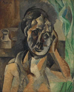 Pablo Picasso (1881-1973) La femme au pot de moutarde (Woman with Mustard Pot), 1910 Oil on canvas Kunstmuseum Den Haag