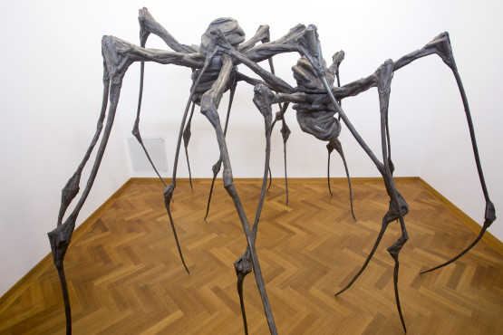 Louise Bourgeois (1911-2010) Spider Couple, 2003 Bronze and slver nitrate Kunstmuseum Den Haag. Long-term loan. Courtesy Hauser & Wirth and Cheim & Read