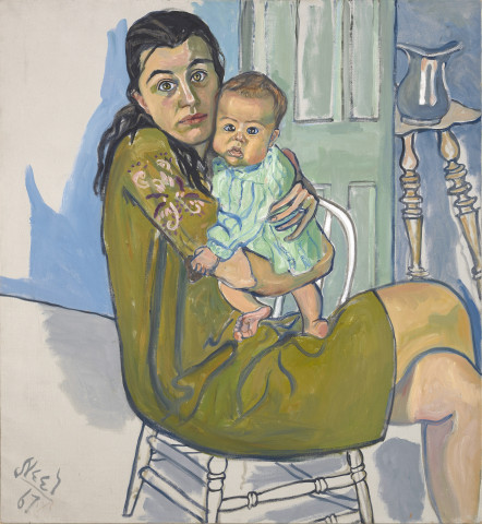 Alice Neel, Mother and Child (Nancy and Olivia), 1967, Olieverf op doek, 99,7 x 91,4 cm, Collectie Diane en David Goldsmith, Foto: Lee Fatherree  © Estate of Alice Neel