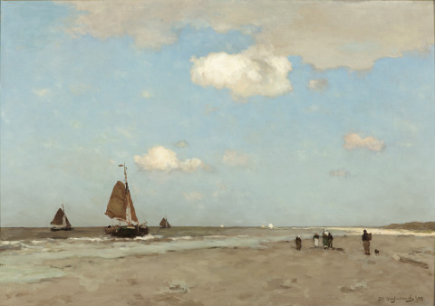 Jan Hendrik Weissenbruch, Beach scene, 1887, oil on canvas, 72,8 x 102,9 cm, Gemeentemuseum Den Haag