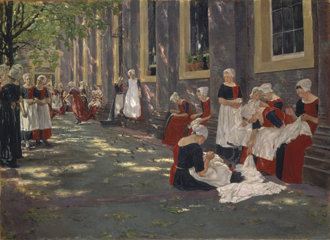 Max Liebermann, Free period in the Amsterdam orphanage, 1881-1882, oil on canvas, 78.5 x 107.5, Städel Museum.
